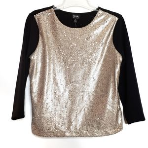 Nicole by Nicole Miller Sequin Party Top - M - NWT